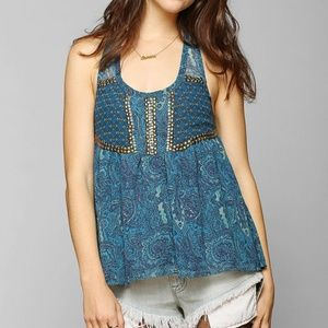 Urban outfitters ecote main event sequin top